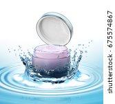 Cream Pot Drop And Water Splas...