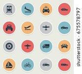 vector illustration set of... | Shutterstock .eps vector #675578797