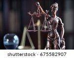 law symbols  on lawyer's desk