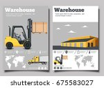warehouse flyer set with... | Shutterstock .eps vector #675583027