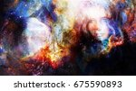 goddess woman and eagles in... | Shutterstock . vector #675590893