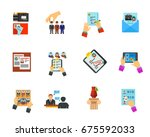 head hunting icon set   Shutterstock .eps vector #675592033