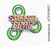 fidget spinner toy for...   Shutterstock .eps vector #675593827