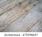 gray wooden table for montage... | Shutterstock . vector #675598657