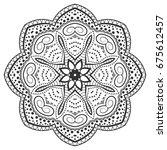 mandala isolated design element ... | Shutterstock .eps vector #675612457