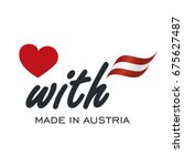 love with made in austria logo... | Shutterstock .eps vector #675627487
