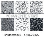 vector seamless pattern set.... | Shutterstock .eps vector #675629527