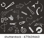 hand drawn arrows set | Shutterstock .eps vector #675634663