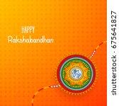 vector abstract for raksha... | Shutterstock .eps vector #675641827