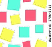 flat line square pattern vector | Shutterstock .eps vector #675645913