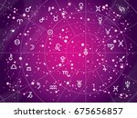 xii constellations of zodiac... | Shutterstock .eps vector #675656857