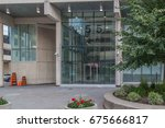 Small photo of TORONTO, CANADA - JUNE 30, 2017: Entrance of 52 Division Police Station at 255 Dundas near China Town in Toronto. 52 Division is the smallest Division but remains one of the busiest in the city.