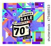 summer sale beautiful web... | Shutterstock .eps vector #675688513