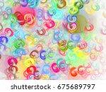 abstract fractal background 3d... | Shutterstock . vector #675689797