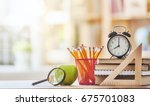 back to school and happy time ... | Shutterstock . vector #675701083