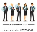 business people working with... | Shutterstock .eps vector #675704047