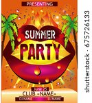summer party card | Shutterstock .eps vector #675726133