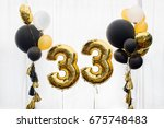 decoration for 33 years... | Shutterstock . vector #675748483