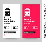 book a train ticket and get low ... | Shutterstock .eps vector #675758977