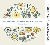 business and finance web icon... | Shutterstock .eps vector #675768853