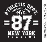 new york typography for t shirt ... | Shutterstock .eps vector #675771973