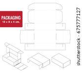 pattern box for bakery ... | Shutterstock .eps vector #675777127