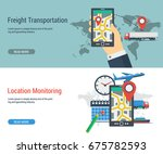 vector two horizontal banner of ... | Shutterstock .eps vector #675782593