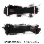 vector set of black brush... | Shutterstock .eps vector #675783217