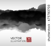 abstract ink background.... | Shutterstock .eps vector #675783703