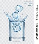 transparent vector water splash ... | Shutterstock .eps vector #675784813