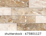 abstract home decorative brick... | Shutterstock . vector #675801127