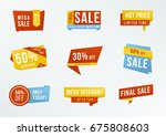 collection advertising badges.... | Shutterstock . vector #675808603