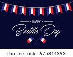 happy bastille day   flag  ... | Shutterstock .eps vector #675814393