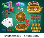 casino icons | Shutterstock .eps vector #675818887