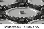 design element. 3d illustration.... | Shutterstock . vector #675825727