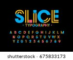 vector of modern abstract font... | Shutterstock .eps vector #675833173