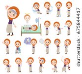 a set of women with injury and... | Shutterstock .eps vector #675844417