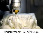 3d printer prints the form of... | Shutterstock . vector #675848353