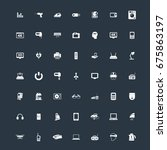 electronics icons set | Shutterstock .eps vector #675863197