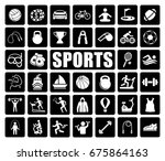sports icons set | Shutterstock .eps vector #675864163