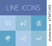 set of 6 editable animal icons. ...