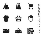 set of 9 editable shopping...