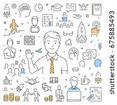 modern line web banner for... | Shutterstock .eps vector #675885493