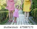 portrait of multi generations... | Shutterstock . vector #675887173