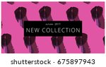 new collection fashion header.... | Shutterstock .eps vector #675897943