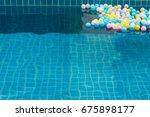 colorful plastic balls in... | Shutterstock . vector #675898177