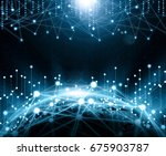 global network  internet... | Shutterstock . vector #675903787