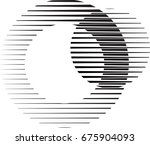 circle logo with lines.unusual... | Shutterstock .eps vector #675904093
