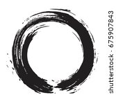 enso zen circle brush vector... | Shutterstock .eps vector #675907843