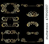 gold frame vintage element... | Shutterstock .eps vector #675920557